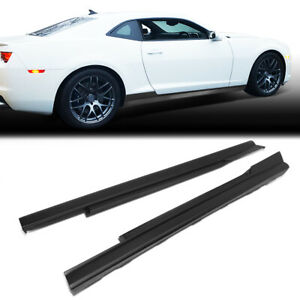 Fit 2010 2015 Chevy Camaro Zl1 Style Pair Side Skirts Panel Extension Body Kit
