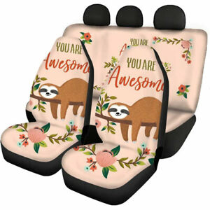 Cute Sloth Gifts Car Seat Covers For Women Automotive Accessories Universal Fit