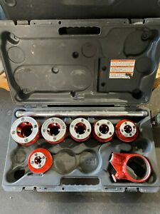 Ridgid 36475 Exposed 6 Ratchet Threader Set Ratcheting Pipe Threading With Case