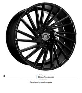 24 Lexani Wraith Gloss Black Set Of 4 W Toyo Proxes Stiii Tires