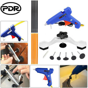 For Pdr Dent Puller Paintless Hail Repair Removal Tool Slide Hammer Glue Gun Kit
