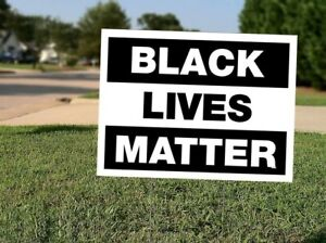 Black Lives Matter Blm 18x12 Double Sided Yard Sign With H Stake