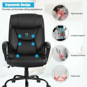 Office Chair Big And Tall Wide Seat Desk Chair With 6 Point Massage Ergonomic