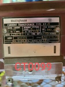 Westinghouse Current Transformer Ratio 1200 5 Type Kt 5