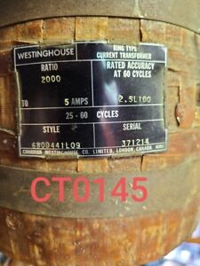 Westinghouse Current Transformer Ratio 2000 5 Ring Type