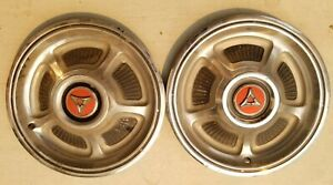 Vintage Rare 2 Original Dodge Chrysler 15 Hubcaps