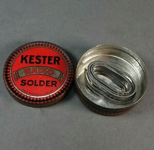 Early Vintage Partial Roll Of Kester Radio Solder With Tin