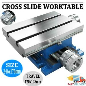 Milling Drilling Machine Worktable Cross Slide Table 9 7x6 9 Bench Table 80160b