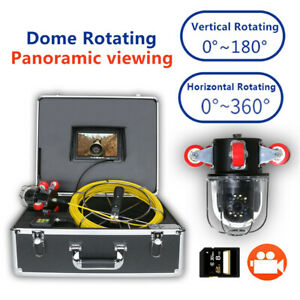 30m 7 Dvr 360 Degree Rotating Drain Sewer Pipeline Industrial Endoscope Camera