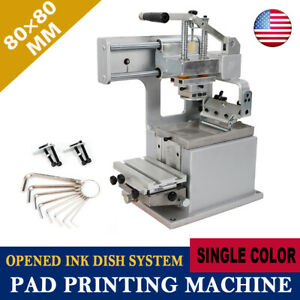 Manual Pad Printer Pad Printing Machine Pad Printing Kit 80 80mm Single color Us