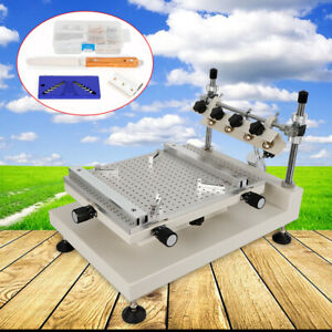 High Accuracy 3040 Solder Paste Printing Machine Pcb Smt Manual Stencil Printer