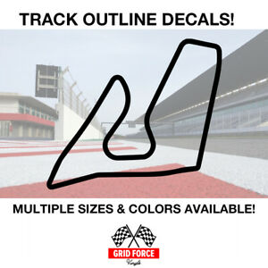 Red Bull Ring Track Outline Vinyl Decal Sticker Grid Car Racing Road Course