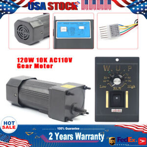 120w Ac110v Gear Motor Electric Motor Variable Speed Controller 1 10 10k 135rpm