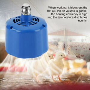 For Chicken Ducks Incubator 220v Cultivation Heating Lamp Thermostat Fan Heater