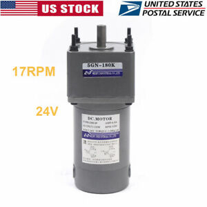 Electric Motor Reducer Speed Gear Motor Variable Motion Controls 17rpm 180k New