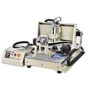 Used Usb 6040 Cnc Router 4axis Engraving Machine Cutter Drill Woodworking 1 5kw