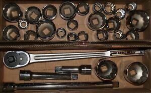 Craftsman 30 Piece Extra Large Heavy Duty 3 4 Drive Sae Mm Socket Wrench Set