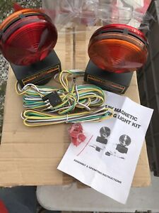 12v New Heavy Duty Magnetic Towing Trailer Light Kit Wire Harness