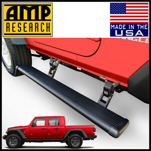 Amp Research Powerstep Electric Running Boards Fit 2020 Jeep Gladiator