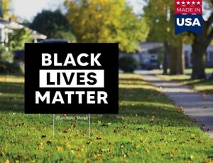 Blm Black Lives Matter Yard Sign Double Sided 18x12 No H Stake
