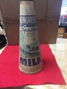 Vintage Monohon's Cardboard Milk Container With Stopper