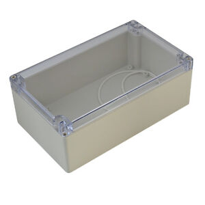 Waterproof Clear Plastic Enclosure Electronic Project Box Cover 200 120 75mm