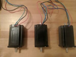 3 Pcs Nema 23 Dual Shaft Stepper Motor 570 Oz 3 8 Shaft