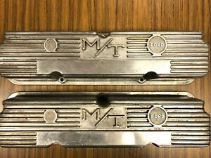 Vintage Mickey Thompson M t Fe 390 406 427 428 Ford Valve Covers Super Nice