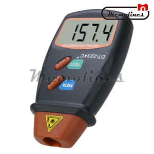 Digital Lcd Laser Tachometer Dt2234c Rpm Meter Non contact Motor Speed Tester