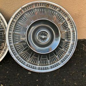 1964 1965 1966 Ford Thunderbird Hubcaps Wheel Covers Wheelcovers Complete Set