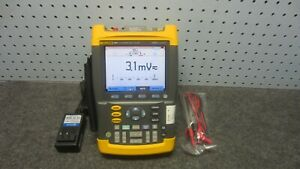 Fluke 199c Scopemeter Color Portable Oscilloscope 200 Mhz 2 5 Gs s s w V08 04 2