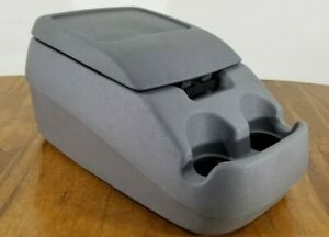 92 97 Ford Bronco F 150 F 250 F 350 Center Console Storage Cup Holders Gray