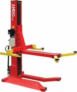 Amgo Sml6 6 000 Lbs Portable Single Post Lift