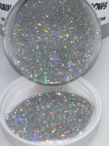 Cande Shop Metal Flake 008 Holographic Rainbow Made In Usa Custom Paint 2oz Jar