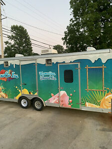 Hawaiian Shave Ice Concession Trailer 8 5x20