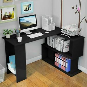 L shape Computer Table Study Desk Office Furniture Pc Laptop Workstation Home Aa