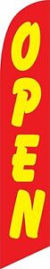 12ft X 2 5ft Open red yellow Replacement Feather Swooper Banner Flag Flag