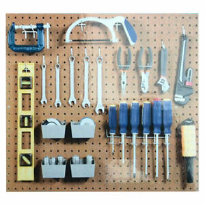 New Pegboard Hook Assortment Kit Storage Shop Garage Organizing Tools Hanger Us