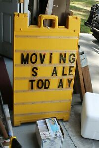 Sidewalk Marquis Sign 24 X 36 With Letters And Numbers Kit In Great Condition