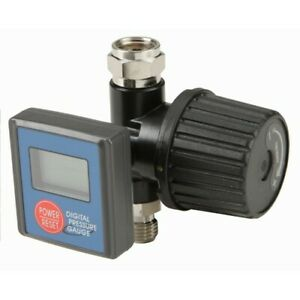 Digital Spray Paint Gun Air Pressure Regulator Gauge 0 To 160 Psi