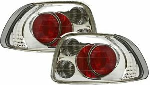 Tail Lights For 1993 1997 Honda Civic Del Sol Chrome Clear