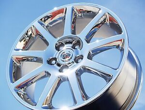 4 New Chromed 18 Cadillac Sts Dts Cts Dhs Seville Oem Wheels Rims 4585