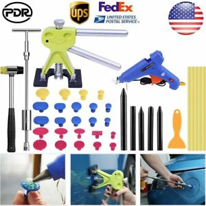 Us Paintless Hail Removal Dent Puller Lifter Repair Pdr Tools T Bar Slide Hammer