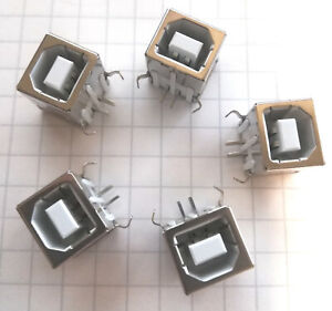 5 Pcs Usb 2 0 Port Type B Female Socket Connector For Pcb Us Shipping