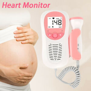 Lcd Pocket Prenatal Fetal Doppler Baby Heart Beat Monitor Pregnancy Usa New