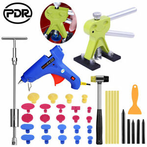 Diy Car Paintless Dent Removal Kit Hand Tool Puller Lifter Slide Hammer T Bar Us