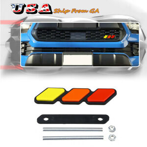 1pc Fits Toyota Tacoma 4runner Tundra Emblem Badge Car Front Grille Tri Color Fits 2009 Toyota Tacoma
