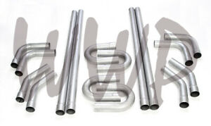 Aluminized Steel 2 25 Custom Exhaust Tubing Mandrel Bend Pipe Straight U Bend