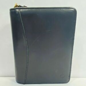 Franklin Covey Compact Planner Binder Full Grain Nappa Leather Zipper