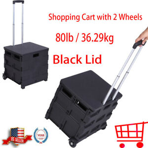 Shopping Trolley Cart Waterproof Rolling Bag Luggage Wheels Basket Market Bag Us